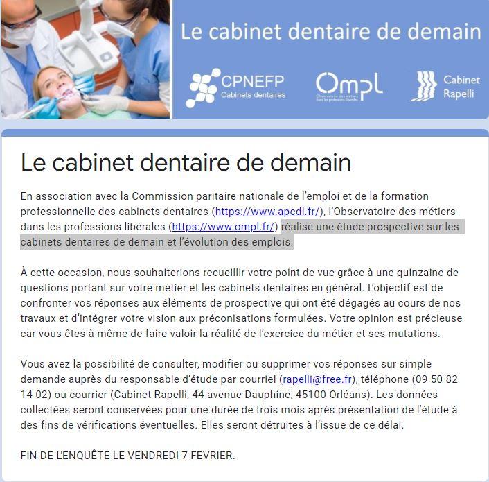 le cabinet dentaire de demain
